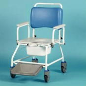 Homecraft Atlantic Bariatric Commode Shower Chair with Footrests (510mm Width Between Armrests)