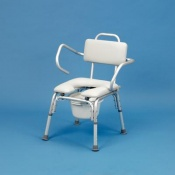 Homecraft Bariatric Shower Chair with Cut-Out and Commode Pan