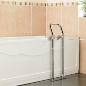 Swedish Chrome-Plated Bath Side Rail