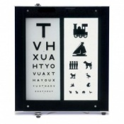 Illuminated Eye Test Chart 3 Metre Distance