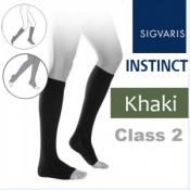 Sigvaris Instinct Men's Calf Class 2 Khaki Compression Stockings