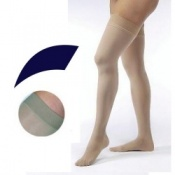 JOBST Opaque Compression Class 1 (18 -  21mmHg) Thigh High Navy Closed Toe Compression Garment