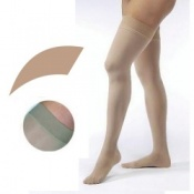 JOBST Opaque Compression Class 1 (18 -  21mmHg) Thigh High Sand Closed Toe Compression Garment