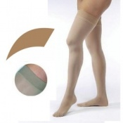JOBST Opaque Compression Class 1 (18 -  21mmHg) Thigh High Amber Closed Toe Compression Garment