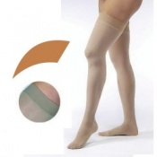 JOBST Opaque Compression Class 1 (18 -  21mmHg) Thigh High Caramel Closed Toe Compression Garment