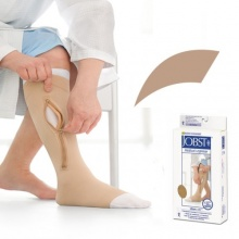JOBST UlcerCARE Beige Zip Compression Stocking with Liner