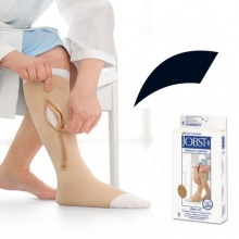 JOBST UlcerCARE Black Zip Compression Stocking with Liner