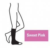 Juzo Attractive Below Knee 18-21mmHg Sweet Pink Compression Stocking with Open Toe