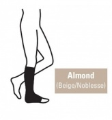 Juzo Attractive Below Knee 18-21mmHg Almond Compression Stocking with Open Toe