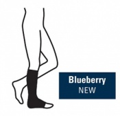 Juzo Attractive Below Knee 18-21mmHg Blueberry Compression Stocking with Open Toe