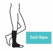 Juzo Attractive Below Knee 18-21mmHg Cool Aqua Compression Stocking with Open Toe