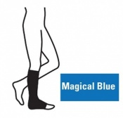 Juzo Attractive Below Knee 18-21mmHg Magical Blue Compression Stocking with Open Toe