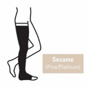 Juzo Attractive Thigh 23-32mmHg Sesame Compression Stocking with Open Toe