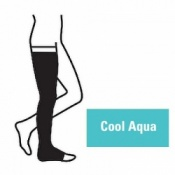 Juzo Attractive Thigh 18-21mmHg Cool Aqua Compression Stocking with Open Toe