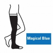 Juzo Attractive Thigh 18-21mmHg Magical Blue Compression Stocking with Open Toe
