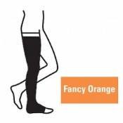 Juzo Attractive Thigh 18-21mmHg Fancy Orange Compression Stocking with Open Toe