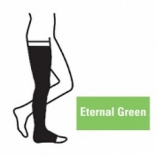 Juzo Attractive Thigh 18-21mmHg Eternal Green Compression Stocking with Open Toe