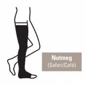 Juzo Attractive Thigh 18-21mmHg Nutmeg Compression Stocking with Open Toe