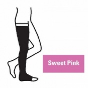 Juzo Attractive Thigh 18-21mmHg Sweet Pink Compression Stocking with Open Toe
