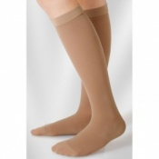 Juzo Hostess Class 2 Almond Knee High Compression Stockings with Open Toe