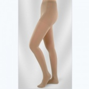 Juzo Soft Class 1 Almond Compression Tights with Open Toe