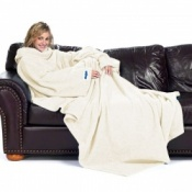 Cream Slanket Blanket With Sleeves
