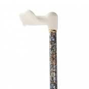 Left-Handed Adjustable Autumn Gold Orthopaedic Walking Cane