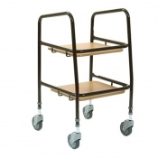 Heathcote Multipurpose Trolley With Laminated Trays
