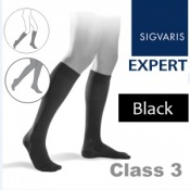 Sigvaris Expert for Men Calf Class 3 Black Compression Stockings