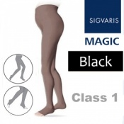 Sigvaris Magic Class 1 Open Toe Maternity Compression Tights - Black