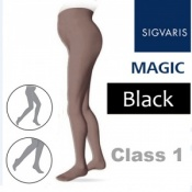 Sigvaris Magic Class 1 Closed Toe Maternity Compression Tights - Black