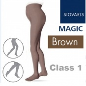 Sigvaris Magic Class 1 Closed Toe Maternity Compression Tights - Brown