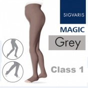 Sigvaris Magic Class 1 Open Toe Maternity Compression Tights - Grey