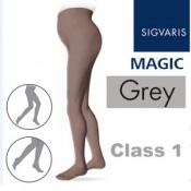 Sigvaris Magic Class 1 Closed Toe Maternity Compression Tights - Grey
