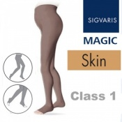 Sigvaris Magic Class 1 Open Toe Maternity Compression Tights - Skin