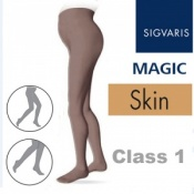 Sigvaris Magic Class 1 Closed Toe Maternity Compression Tights - Skin