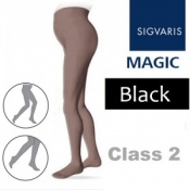 Sigvaris Magic Class 2 Closed Toe Maternity Compression Tights - Black