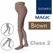 Sigvaris Magic Class 2 Closed Toe Maternity Compression Tights - Brown