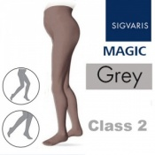 Sigvaris Magic Class 2 Closed Toe Maternity Compression Stockings - Grey