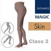 Sigvaris Magic Class 2 Open Toe Maternity Compression Tights - Skin