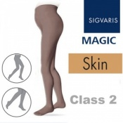 Sigvaris Magic Class 2 Closed Toe Maternity Compression Tights - Skin