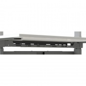 Medi-Plinth Ergo Sit/Stand Smart Workstation Long Upper Cable Tray