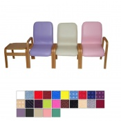 Medi-Plinth Deluxe Wooden Waiting Room Chair with Armrests (Set of 3)