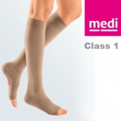 Medi Mediven Plus Class 1 Beige Below Knee Compression Stockings with Open Toe