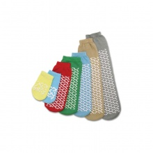 Medline Single Tread MEDIUM/GREEN Slipper Socks (Five Pairs)