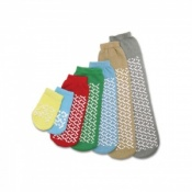 Medline Single Tread MEDIUM/GREEN Slipper Socks (One Pair)