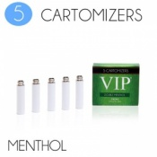 VIP Electronic Cigarette Double Menthol High Strength E-Liquid Cartomisers