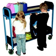 Mobile 10 Student Multi Purpose Lunch Box & Cloakroom Storage Trolley