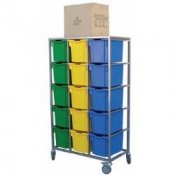 Mobile 15 Tray Storage Trolley