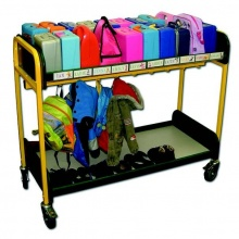 Mobile 20 Student Multi Purpose Lunch Box & Cloakroom Storage Trolley